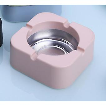 Simple Nordic Style With Smooth Lines Plastic PP Ashtray(Pink)