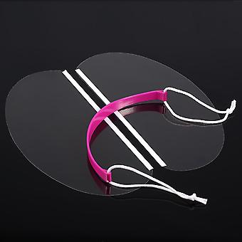50pcs/pack Professional Hair Salon Hairstyling Eyeprotector Transparent Face Mask