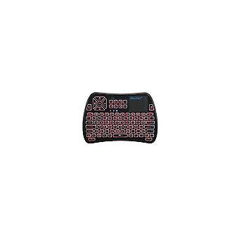 KP-810-61-RGB Spagnolo Tre colori Retroilluminato Mini Tastiera Touchpad Airmouse