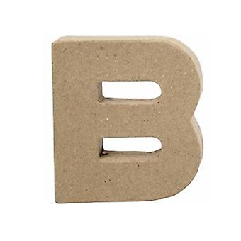 VIIMEISET MUUTAMAT - 10cm pieni paperi mache kirjain B | Papier Mache -muodot