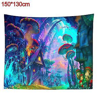 (150*130cm) Psykedeelinen sieni talon seinä roikkuu tapetti art hippi heittää kotiin sisustus
