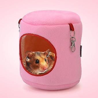 Flanell Zylinder Haustier Haus Warme Hamster Hängematte Hängebett Kleine Haustiere Nest, L,