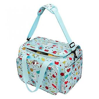 Huacreate Printed Embroidery Storage Bags Large Capacity Household Knitting Organizer Crochet