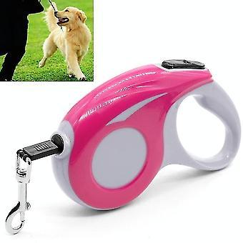 Automatische Haustier Traktion Gerät Haushalt Hund gehen versenkbare Traktion Seil, Länge: 3m(Pink)