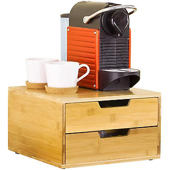 Soporte de máquina de café de SoBuy y Pod cápsula almacenamiento organizador 2 cajones, FRG82-N