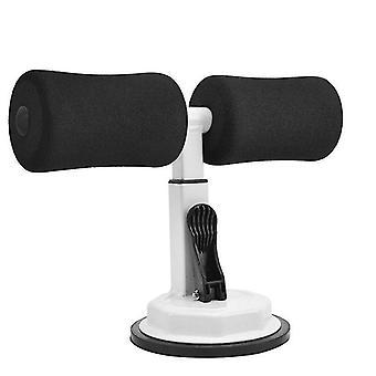 Sit-ups fitnessapparatuur zittend zuignap (zwart met wit)