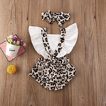 Baby kleding pasgeboren baby baby kleding luipaard jumpsuit bodysuit