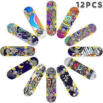 12pcsfinger Skateboard Mini Desktop Toy Set