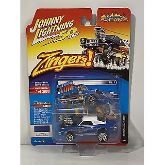 1973 Pontiac GTO Zinger Blue Past So Fast 1:64 Johnny Lightning JLSF014A