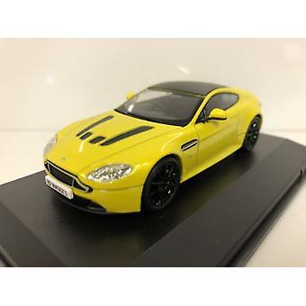 Aston Martin Vantage S Sunburst Yellow 1:43 Scale Oxford 43AMVT003