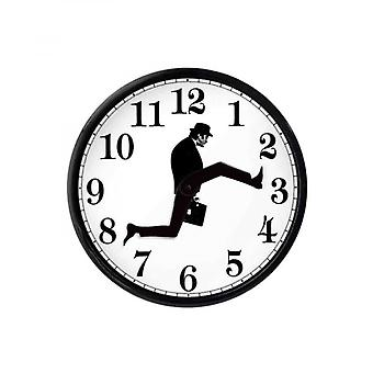 Monty Python Inspired Silly Walk Wall Clock Creative Silent Mute Clock Wall Art For Home Living