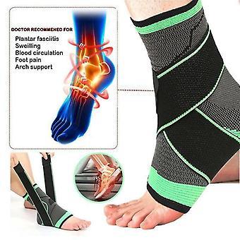 (M) Knöchelstütze Kompressionsriemen Achillessehnenstütze Unterstützt Verstauchung Schutzib