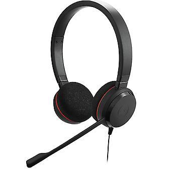 Jabra Evolve 20, stereo headset, MS Lync, USB, fjärrkontroll, svart