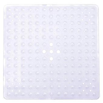 Bath mats rugs safety anti-slip mat bathtub pad with suction cups for bathroom toilet 53*53cm transparent white