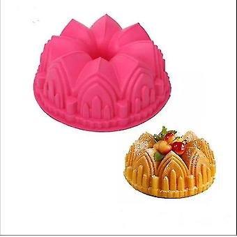 Cake pans molds modern style big crown castle silicone cake 3d mold