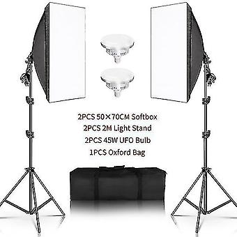 Camera accessory sets photography 50x70cm softbox lighting kits professional light system with e27 photographic bulbs