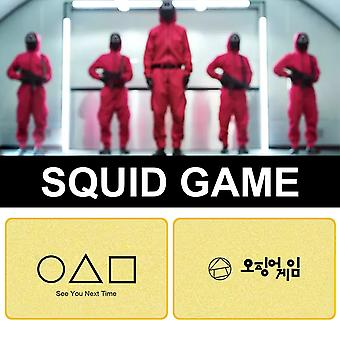 Halloween Party Squid Game Cards Cosplay Solitaire Game Card,squid Game(aggreko)