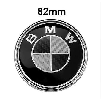 Emblème en fibre de carbone Logo Bmw Logo Bonnet / Coffre 82mm Serie 1/3/5/6/7/8 / X / Z E30 / E34 / E36 / E39 / E46 / E90 / E91 / X5 / M3 / M5