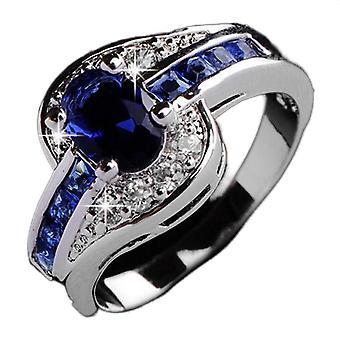 Pierścionek damski Blue Crystal Zircon Diamond