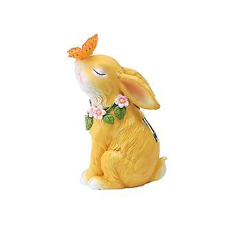 Swotgdoby dierlijke sculptuur zonnelamp, schattige konijn decoratie, geschikt voor outdoor