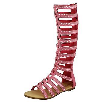 Chicas punto de rodillas Gladiator sandalias H0222