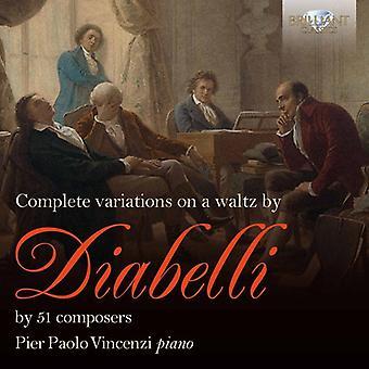 Pier Paolo Vincenzi - Pier Paolo Vincenzi: Komplett variationer över en vals av Diabelli [CD] USA import