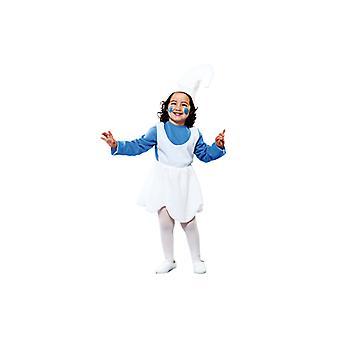 Zwergenkostüm Blauer Zwerg Kostüm für Mädchen 2-3 Jahre Gr. 104 T2