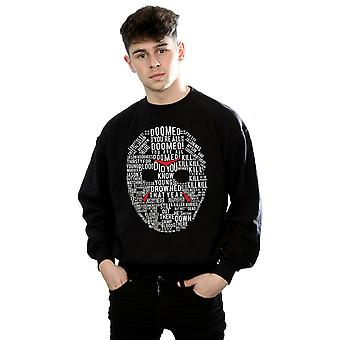 Friday 13th Men's Jason Text Mask Sweatshirt