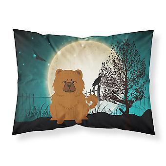 Halloween Scary Chow Chow Red Fabric Standard Pillowcase