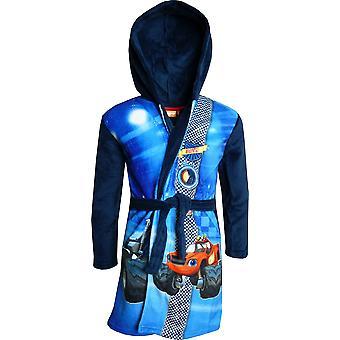 Jongens DHQ2196 Blaze en de Monster Machines Fleece capuchon badjas