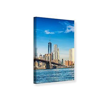 Canvas Print New York Skyline en Brooklyn Bridge