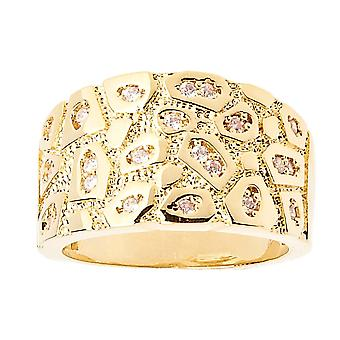 Iced Out Bling Hip Hop Designer Ring - NUGGET gold