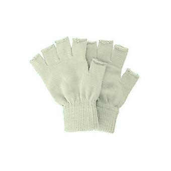 Gloves  Knitted fingerless gloves beige