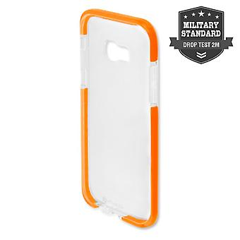 MILITARY Soft Cover AIRY-SHIELD Schutzhülle für Galaxy A5 2017 A520F TPU Orange