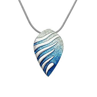 Sterling Silver Traditional Scottish Mirage Waterfall Enamel Hand Crafted Necklace Pendant - EP288