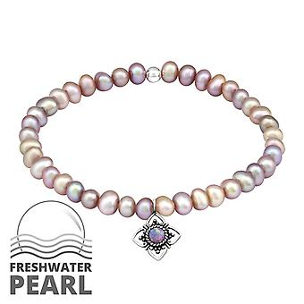 Flor - pulseiras de corrente prata esterlina 925 - W32435x