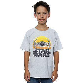 Star Wars meninos gravata do sol Fighter t-shirt