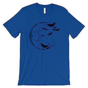 Lua e morcegos Mens azul Royal t-shirt