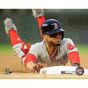 Mookie Betts 2018 Action Photo Print