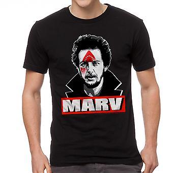 Maison seule Marv fer frappé T-shirt noir de Booby Trap hommes