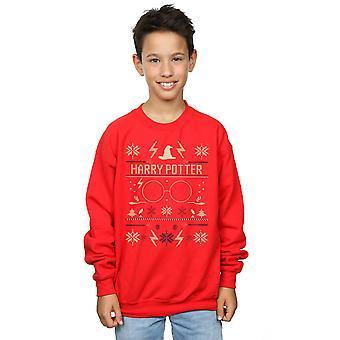 Harry Potter Boys Christmas Pattern Sweatshirt