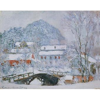 Sandviken Village in the Snow, Claude Monet, 50x40cm