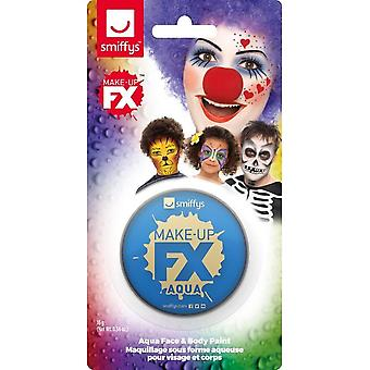 Smiffys Make-Up FX, Royal Blue, Aqua Face and Body Paint, 16ml, Water Based