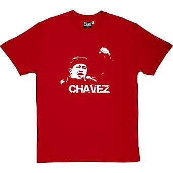 Hugo Chavez: White Print Red Men's T-Shirt