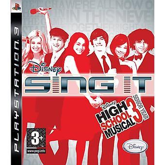 Disney Sing It High School Musical 3 Último Ano (PS3) - Novo