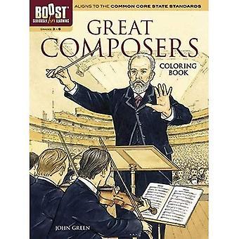 Boost stora kompositörer målarbok