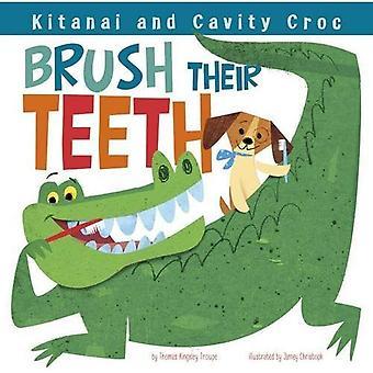 Kitanai und Hohlraum Croc putzen ihre Zähne (Kitanai gesunde Gewohnheiten)