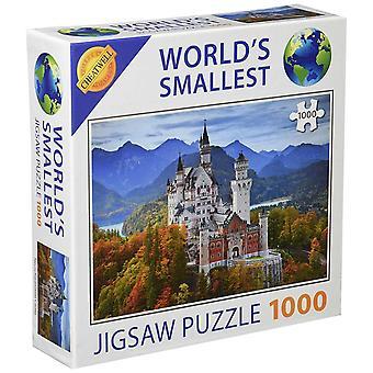 世界最小 1000年ピースのジグソー パズル - ノイシュヴァンシュタイン城 (1000年個入)