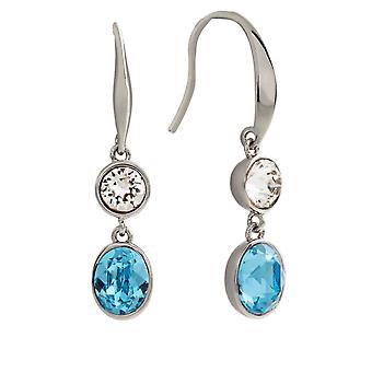 Bertha Jemma Collection Women's 18k WG Plated Blue Dangle Fashion Earrings