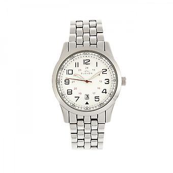 Elevon Garrison Bracelet Watch w/Date - Silver/White
